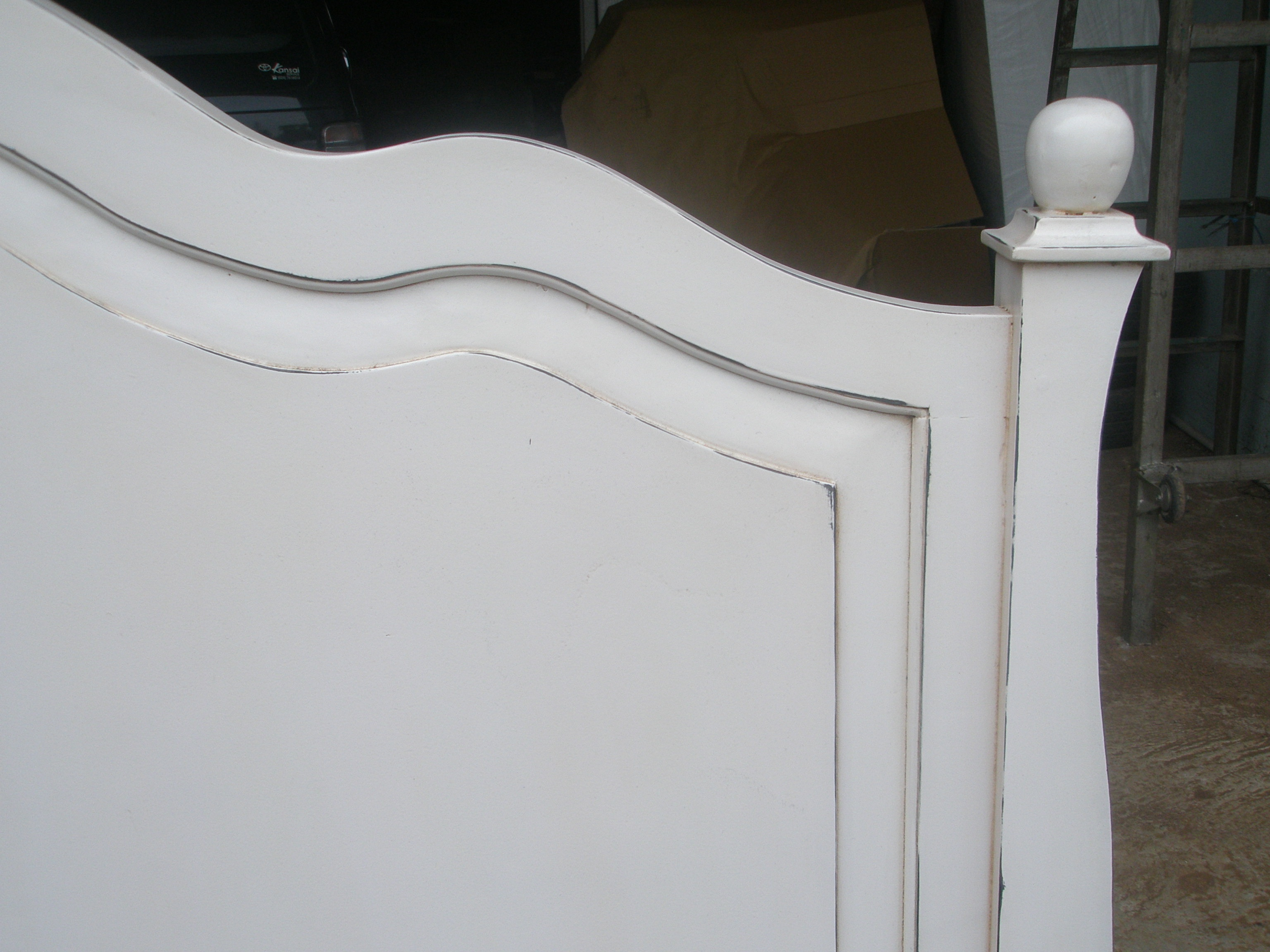 Antique White Paint Finish The Ay Headboard