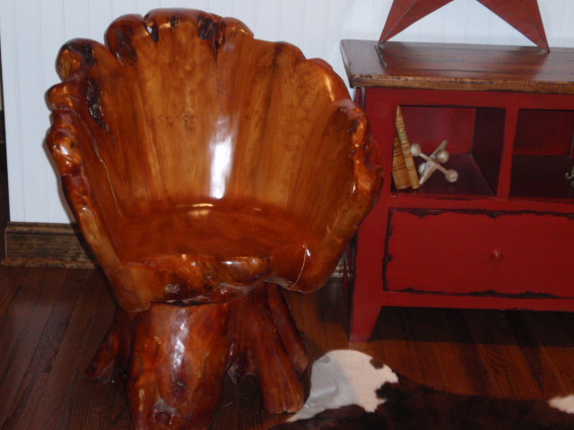 Hudson goods blog vintage industrial furniture branches - Chair made from tree trunk ...