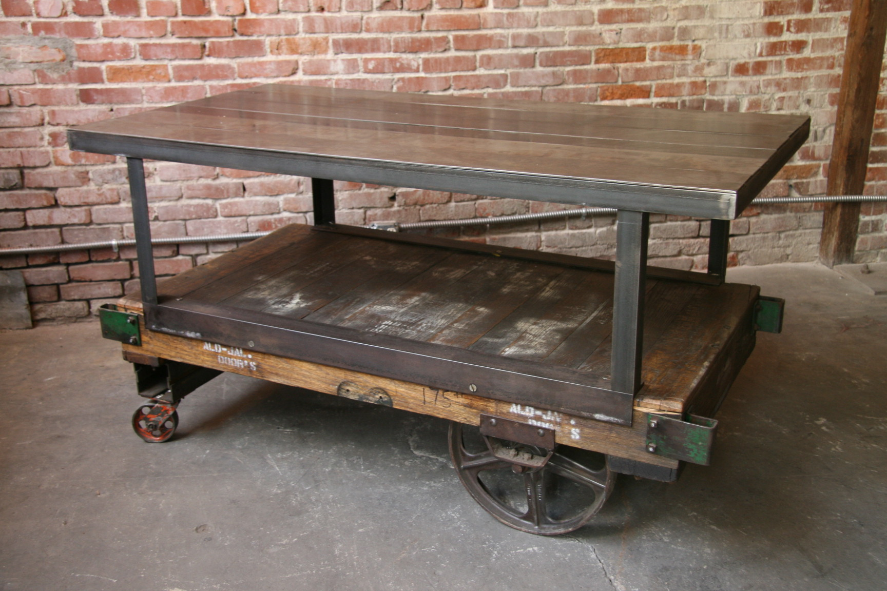 Factory caster vintage industrial furniture - Cool Factory Cart