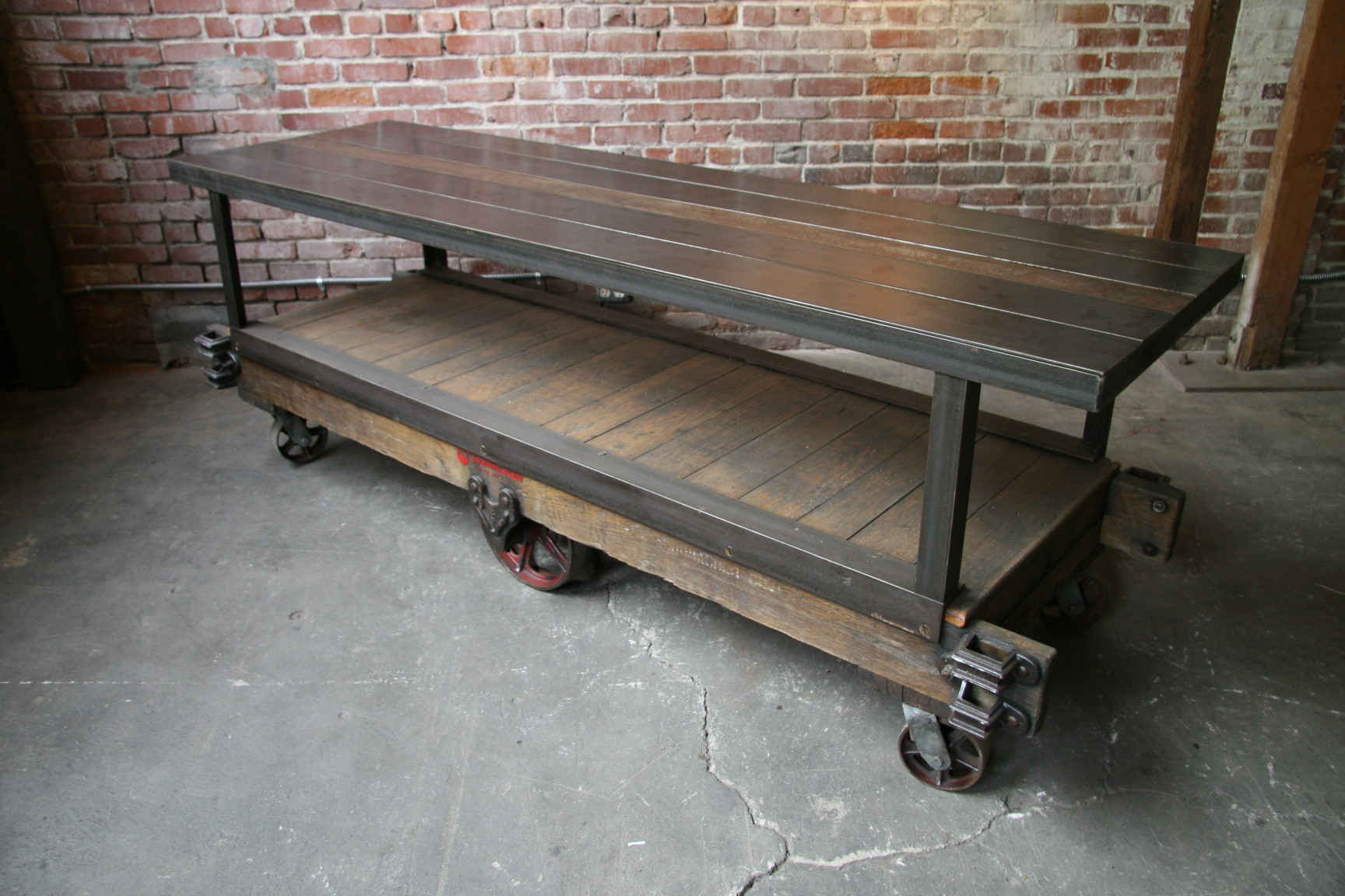Stupendous Industrial Work Table With Casters Fe56 Advancedmassagebysara Frankydiablos Diy Chair Ideas Frankydiabloscom
