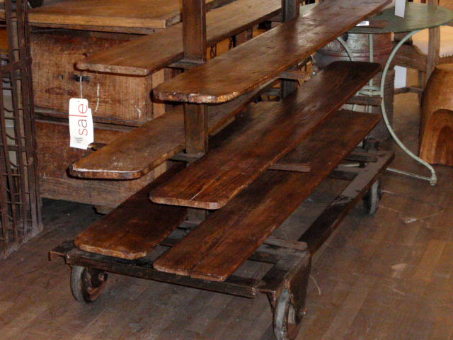 Hudson Goods Blog Vintage Industrial Furniture Wood And Metal Shelving