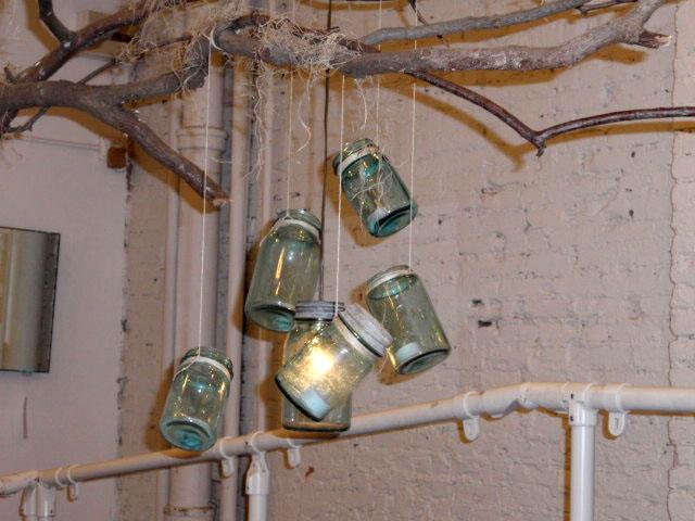 Mason Jar Display Mason Jars Lit up