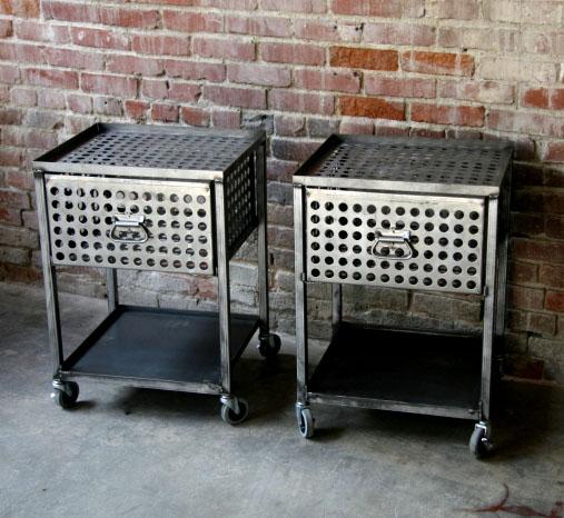 metal industrial furniture. Like The Wheels On These Industrial Metal Tables Furniture N