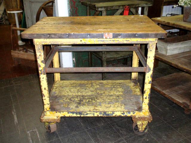 Industrial Factory Carts Tables Vintage Metal