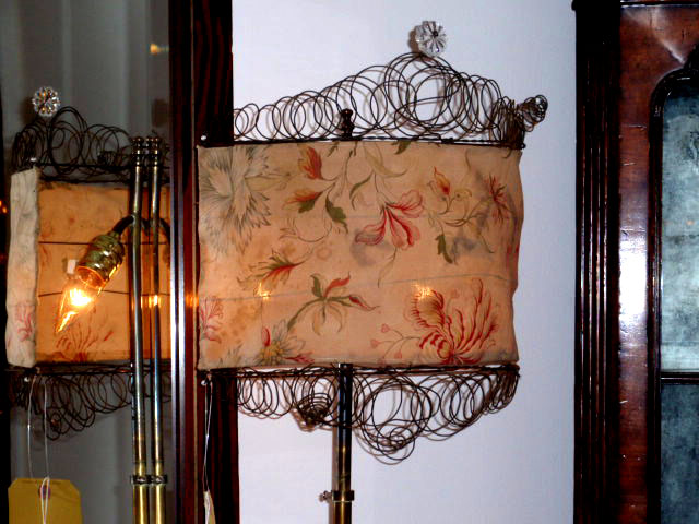 Lampshades gone wild hudson goods blog crazy lampshades beach cottage white wood lamps pottery barn aloadofball Gallery