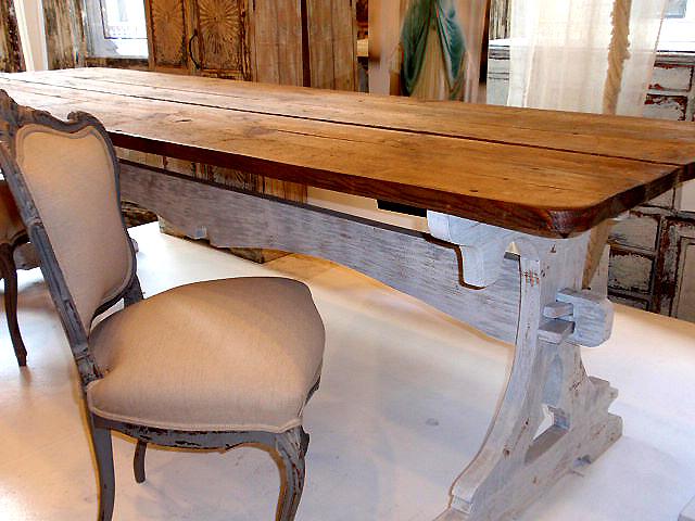 Hudson Goods Blog Vintage Industrial Furniture distressed painted furniture
