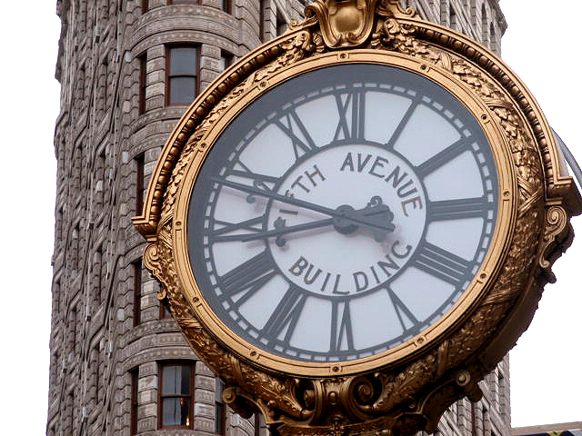 vintage clocks new york fifth avenue wood and metal