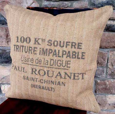 burlap pillow burlap furniture