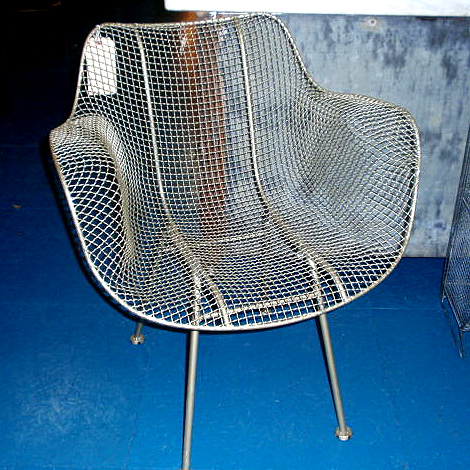 Metal Wire Chair Silver