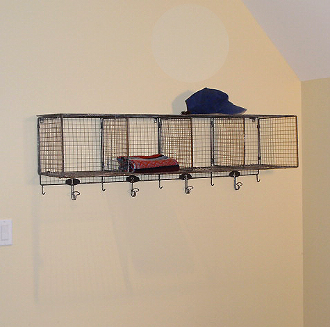 Football bedroom on pinterest football bedroom iowa hawkeyes and football - Wall metal shelf ...