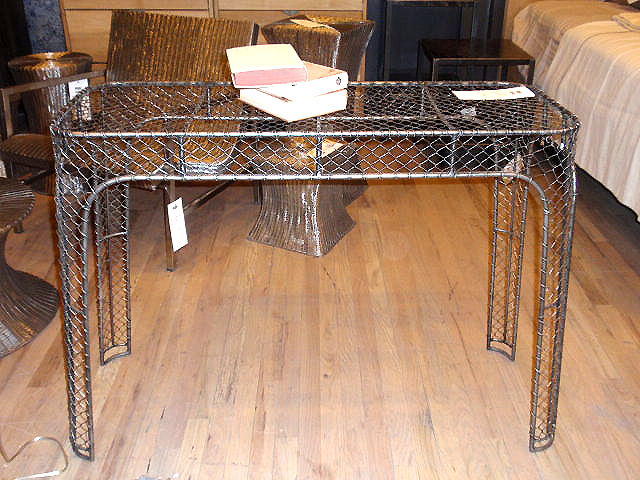 cool industrial furniture. industrial vintage metal wire furniture cool console e