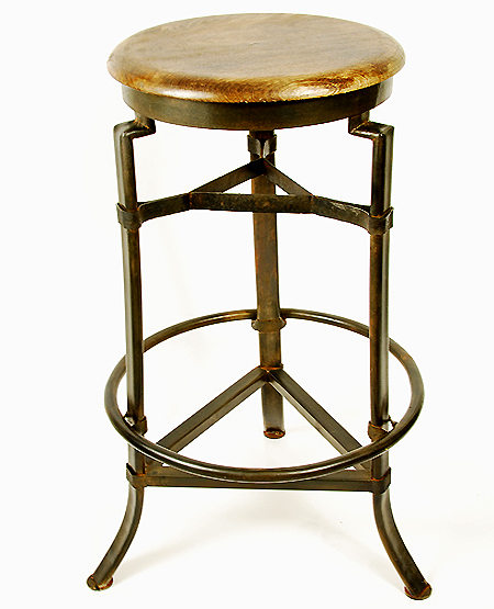 industrial wood-and-iron-stool  sc 1 st  Hudson Goods Blog & Wood and Metal Industrial Tables and Stools - Hudson Goods Blog islam-shia.org