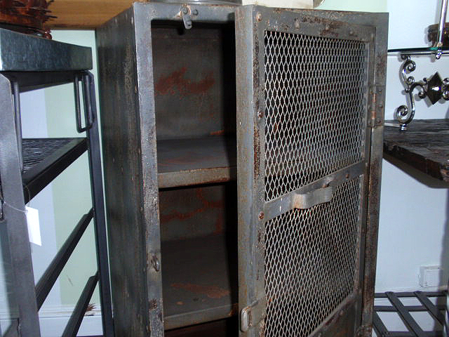 Vintage Industrial Metal Gym Locker Cabinet
