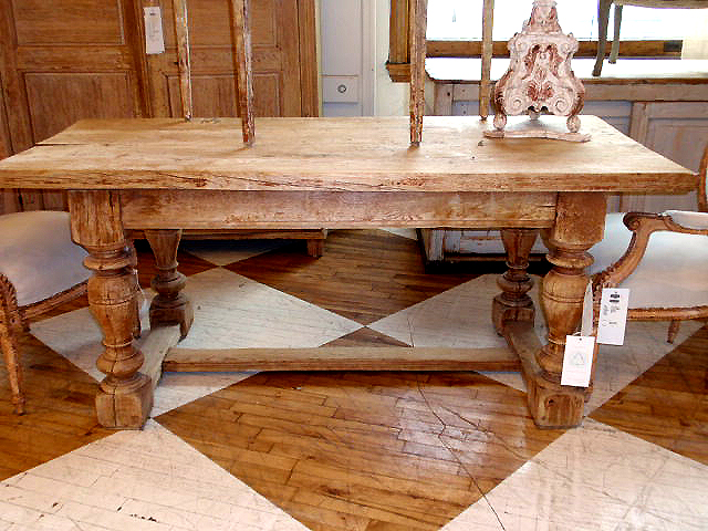 Good Vintage Wood Farmhouse Table