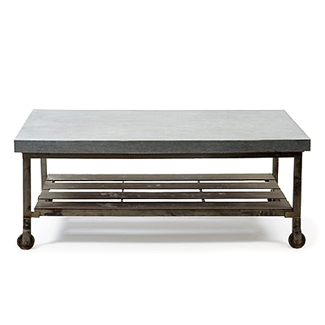 Hudson goods blog vintage industrial furniture galvanized metal tables Industrial metal coffee table