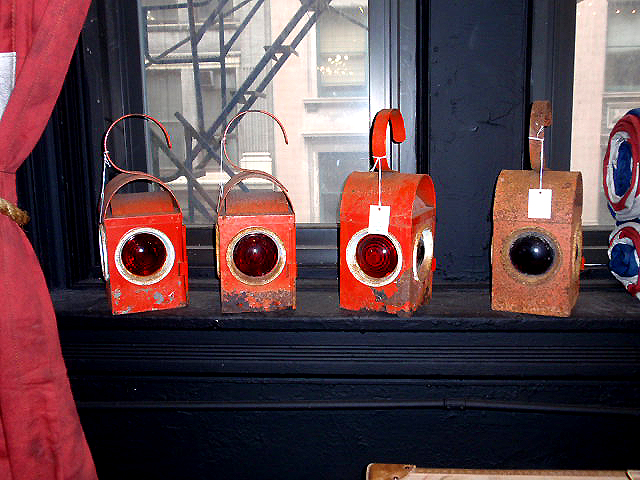 Vintage Railroad Lantern Lamps Hudson, Train Lantern Lamp